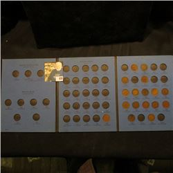 1887-1909 Partial Set of Indian Head Cents in a blue Whitman folder.