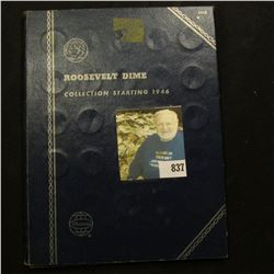 1946-78 Partial Set of Roosevelt Dimes in a blue Whitman folder. (2) Silver & (23) clad.