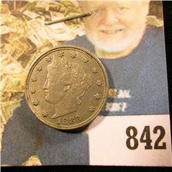 1883 NC Liberty Nickel, EF.