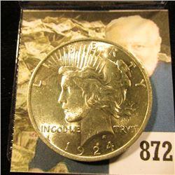 1924 P U.S. Peace Silver Dollar. Gem BU.