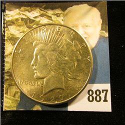 1927 S U.S. Peace Silver Dollar, AU-BU.