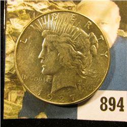 1927 S U.S. Peace Silver Dollar, BU.