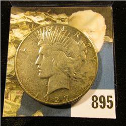 1927 S U.S. Peace Silver Dollar. Fine.