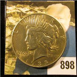 1935 P U.S. Peace Silver Dollar, AU-BU.