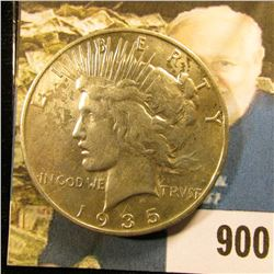 1935 S U.S. Peace Silver Dollar, EF.