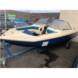 12' POWER BOAT WITH TRAILER NO REGISTRATION