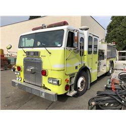 1995 FREIGHTLINER PUMPER FIRE TRUCK, GREEN, VIN # 1FV64LYB5SL872296