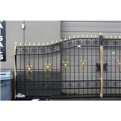 PAIR OF BRAND NEW IRON GATES - TOTAL WIDTH APPROX 19 FT