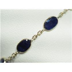 14KT GOLD BRACELET WITH 12 GENUINE BLUE SAPPHIRE (7CT) HANDCRAFTED IN CANADA