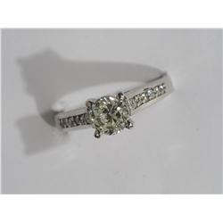 14KT GOLD DIAMOND(1.1CT) RING AND 12 SIDE DIAMONDS (0.12CT) APPRAISED VALUE $15000