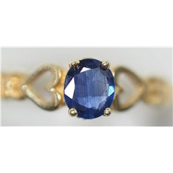 14KT GOLD HEART SHAPED SAPPHIRE RING RETAIL $800