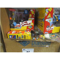6 INTELLI-TRONIC SIMPSONS COLLECTIBLE FIGURINES SETS & 2 BAGS OF LOOSE FIGURINES