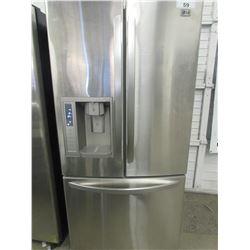 "LG STAINLESS STEEL FRIDGE WITH WATER & ICE DISPENSER MODEL LFX23965ST (33""W X 34""D X 69.5""H)"