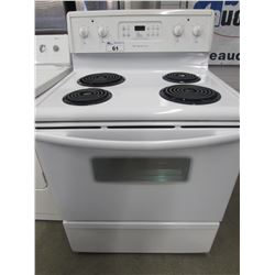 """WHITE FRIGIDAIRE 4 BURNER STOVE WITH SELF CLEANING (30""""W X 28.5""""D X 47.5""""H)"""