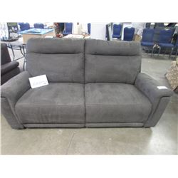 NEW CHARCOAL 2 SEATER RECLINING SOFA