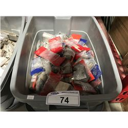 ONE TOTE OF INDUSTRIAL MOULDER CORRUGATED KNIVES