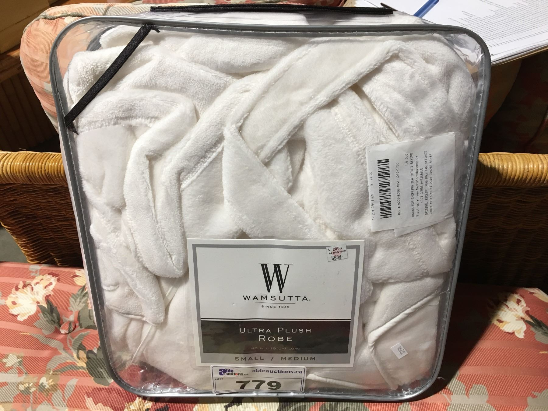 enjoy lowest price outstanding features for whole family WAMSUTTA ULTRA PLUSH ROBE SIZE S/M