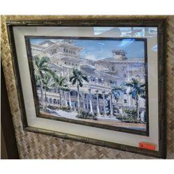 "Framed Print: Moana Surfrider 35.5"" x 27"" Deep Shadowbox Type Frame"