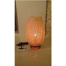 "Woven Lamp, 15"" Tall"