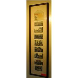 """Famed Vintage Postcards & Mailer: Various Scenes 12.5"""" x 45"""""""
