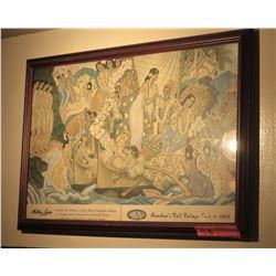 "Framed Vintage Matson Print: Random's Fall Foliage Tour 1960 15"" x 21.5"""