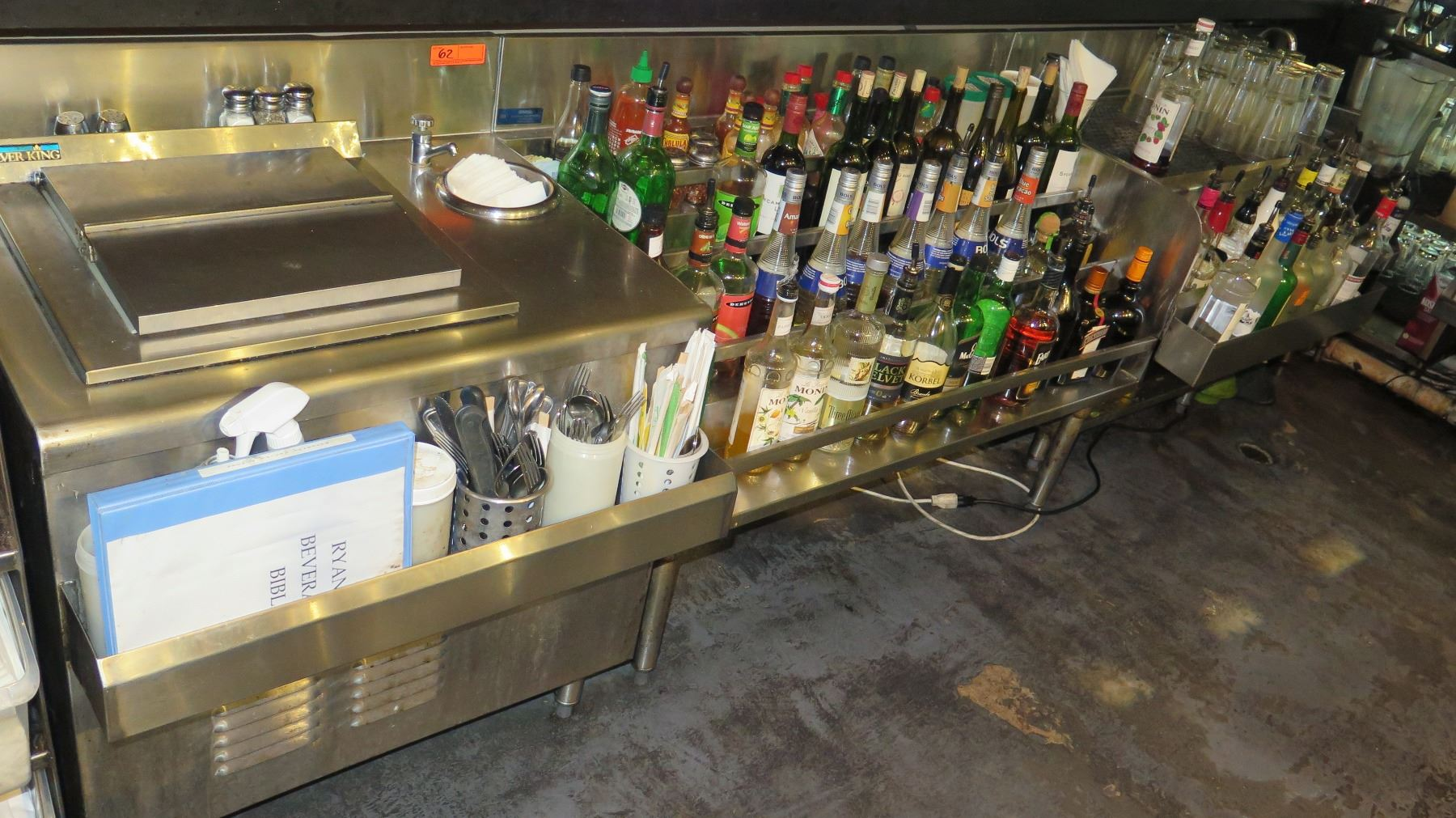 Silver King Chest Freezer, National Bar Systems Multi-Tiered