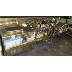 Silver King Chest Freezer, National Bar Systems Multi-Tiered Bottle Stands