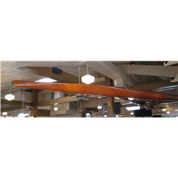 2-Man Glider K.S. Struer Danmark Wooden Canoe (from Ceiling) - Approx. 21 Ft Long