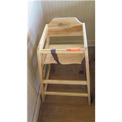 Wooden High Chair - Light Colored Wood