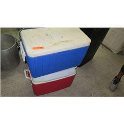 Qty 2 Plastic Coolers