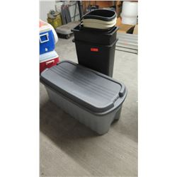 Misc. Plastic Trash Receptacles, Storage Container