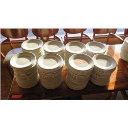 Lot of White Ceramic Salad Plates (all same size)