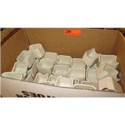 Large Lot of White Ceramic Condiment Holders