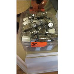 Tray of Glass Salt & Pepper Shakers