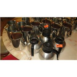 12 Water Pitchers, 4 Coffee Pots