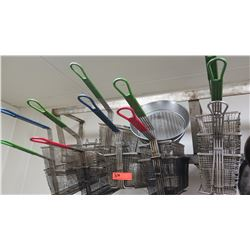 Lot of Fryer Baskets, Strainers