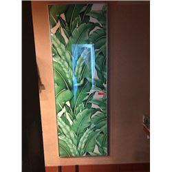 Large Framed Vertical Print: Tropical Leaves