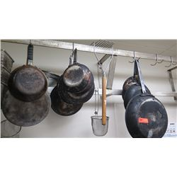 Lot of Frying Pans (Various Sizes)