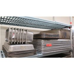 Lot of Sheet Pans and Baking Pans, Steam Table Inserts