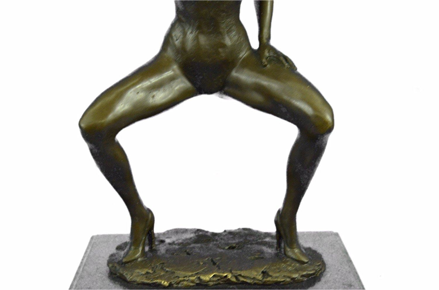 Nude Girl By Renowned bronze sculpture on marble base