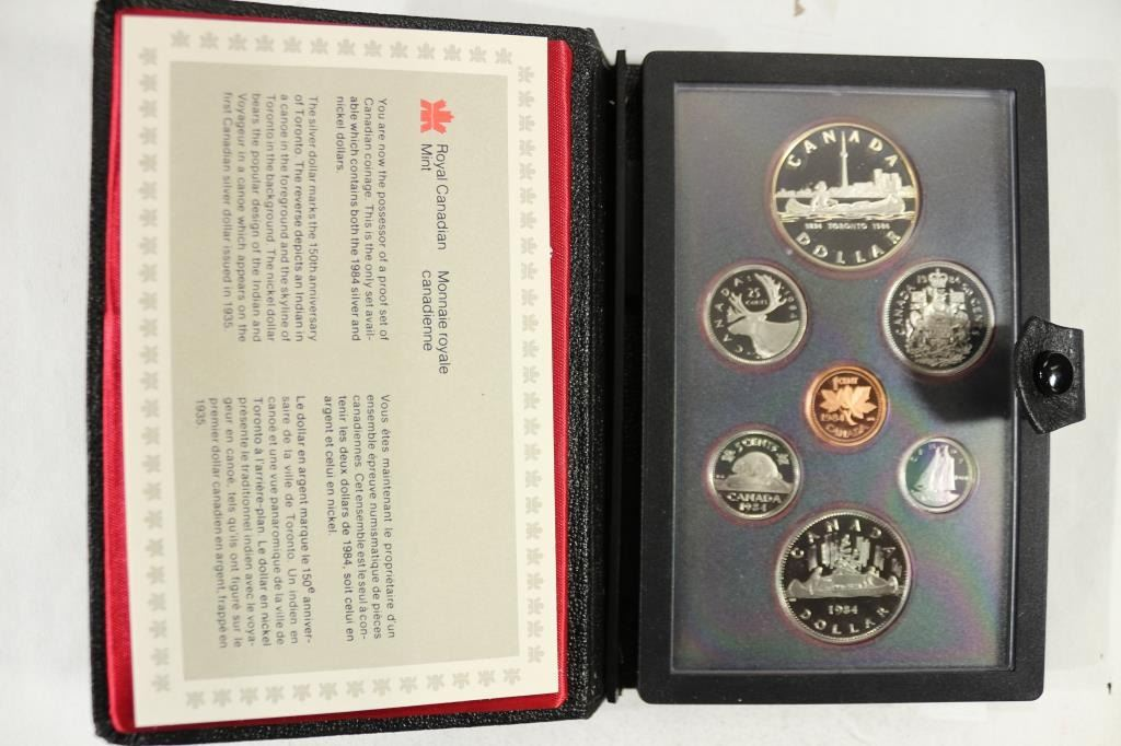 1984 Official RCM Proof Double Dollar Set