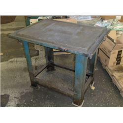 "Heavy Duty Steel Work Table, Overall: 42"" x 30"" x 36"""