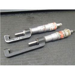 "Scherr-Tumico 0-1"" and 1-2"" Micrometers"