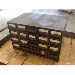 """20 Drawer Tool Organizer with Contents, Overall: 17"""" x 11 x 11"""""""