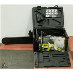 "RYOBI 18"" CHAINSAW IN CASE WITH ACCESSORIES"