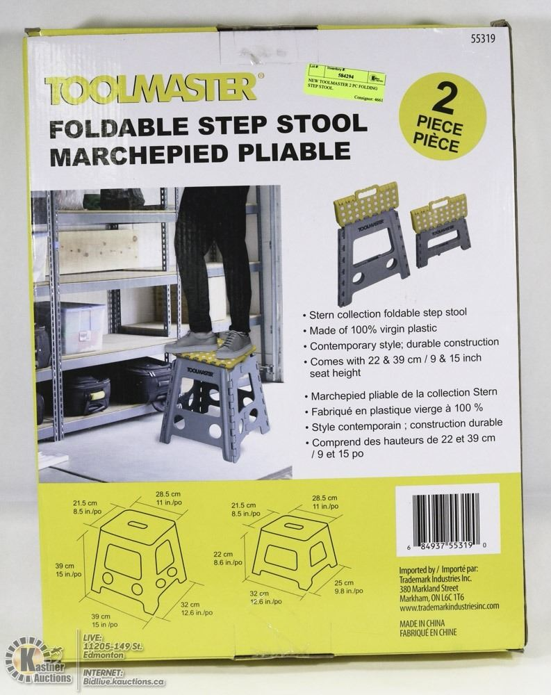 Super New Toolmaster 2 Pc Folding Step Stool Onthecornerstone Fun Painted Chair Ideas Images Onthecornerstoneorg