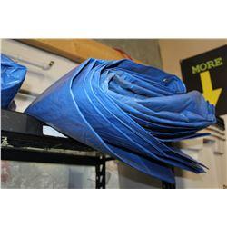 LARGE BLUE TARP 30 X 50