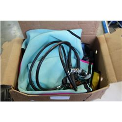 BOX OF DIVING EQUIPMENT