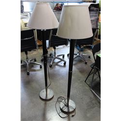 2 MODERN FLOOR LAMPS WITH SHADES