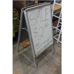 WHITEBOARD SIGN
